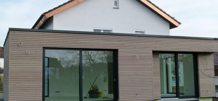 Wohnraumerweiterung in Holzständerbauweise